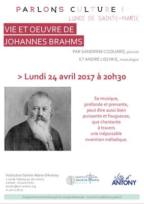 VIE ET OEUVRE DE JOHANNES BRAHMS